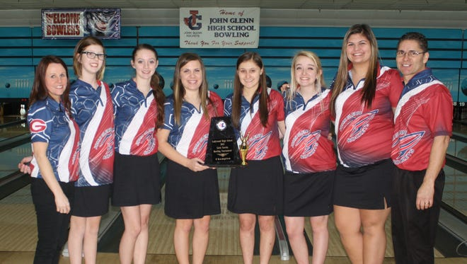 John Glenn's girls bowling team won the KLAA Conference championship last weekend.