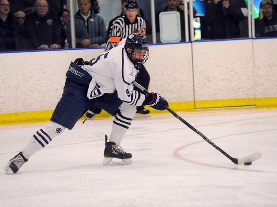 Alec Regula played two years of high school hockey at Cranbrook Kingswood before deciding to jump to the Chicago Steel of the United States Hockey League.