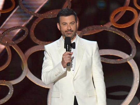 Host Jimmy Kimmel speaks onstage during the 68th Annual Primetime Emmy Awards at Microsoft Theater on Sept. 18, 2016 in Los Angeles.