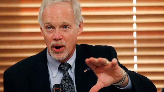 Sen. Ron Johnson, R-Oshkosh, chairman of the Homeland Security and Governmental Affairs Committee, speaks during a hearing.