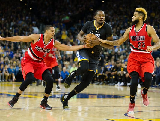 NBA: Portland Trail Blazers at Golden State Warriors