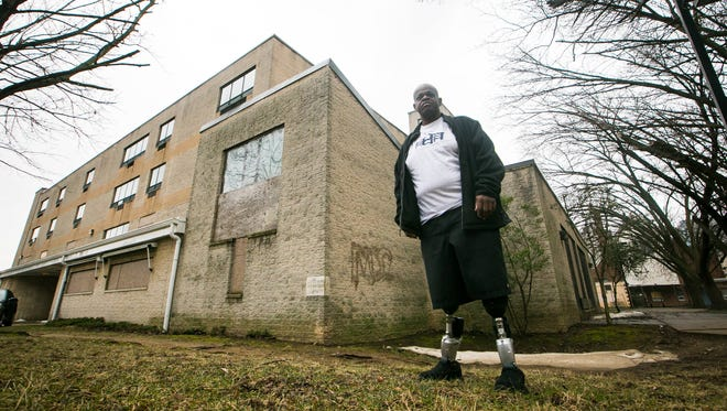 David Mosley, founder and CEO of the Delaware Center for Homeless Veterans, is shown at the Layton Home in Wilmington on Wednesday. Mosley, who is a veteran, is turning the former nursing home into a housing center for homeless military members.