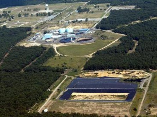 Tim McCarthy/Staff Photographer An aerial view of the Ciba-Geigy Superfund site in Toms River in 2003. An aerial view of the Ciba-Geigy Superfund site in Toms River in 2003.