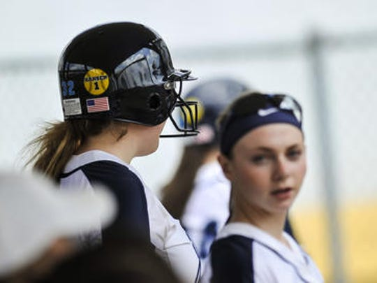 Players from A.L. Johnson High School in Clark are also wearing helmet decals in honor of Leah Hansen.