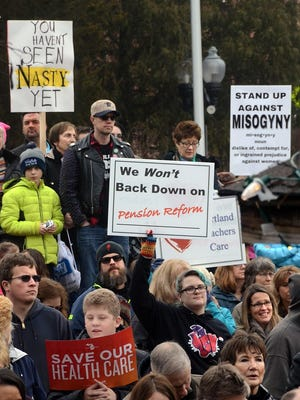 Over 300 were in attendance at the Brighton Women's Rally held at the Brighton Mill Pond Saturday morning.