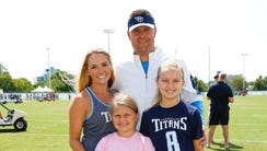 Titans GM Jon Robinson and his family at training camp