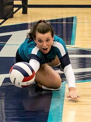 Siegel setter Kristin Demonbreun was one of five Siegel
