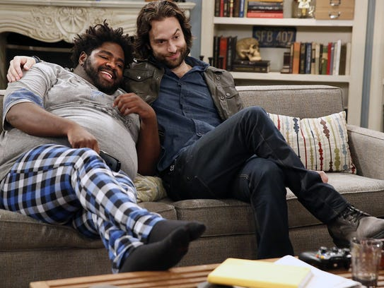"Ron Funches, left, and Chris D'Elia in ""Undateable."""
