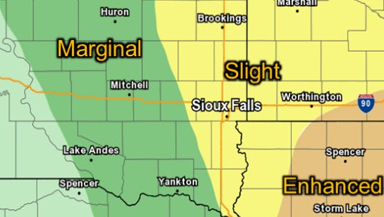 The chances of severe weather developing in the tri-state area on Thursday.