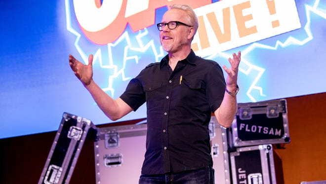 """Adam Savage of """"Mythbusters"""" and YouTube star Michael Stevens teamed up for Brain Candy Live! The show is described as a two-hour play date with Walt Disney, Willy Wonka and Albert Einstein. It's a hands-on, minds-on theatrical experience like no other."""