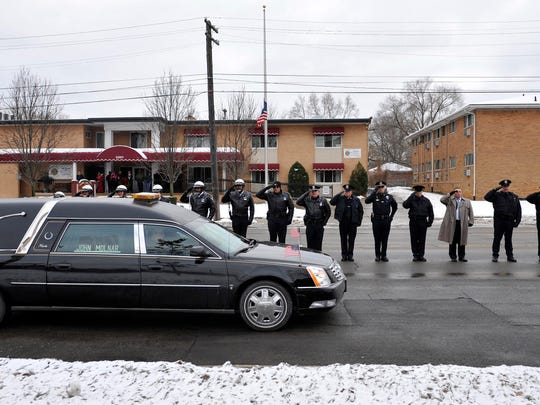 In this Dec. 22, 2010, file photo, a hearse containing