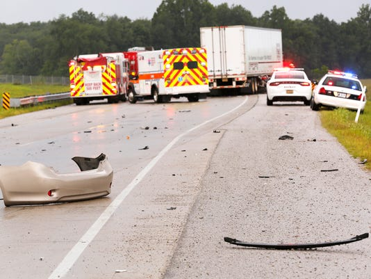 LAF Southbound Hoosier Heartland closed because of serious crash
