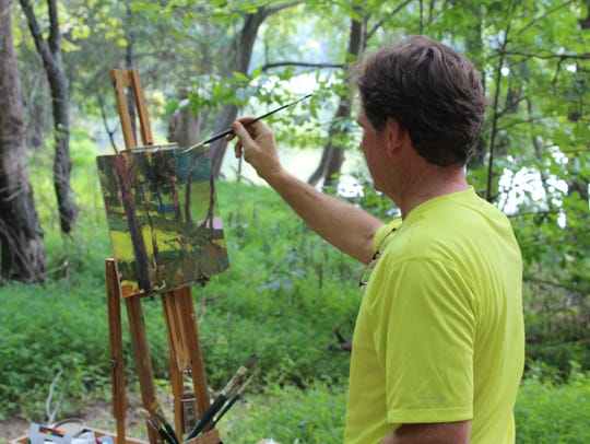 Plein air painter at Radnor Lake.