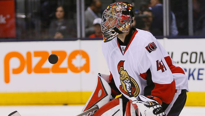 Ottawa Senators goaltender Craig Anderson last played on March 29.