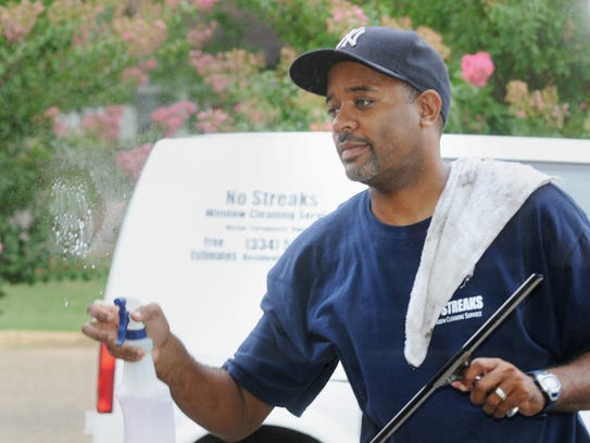 No Streaks Window Cleaning owner Victor Turnquest said