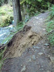 A landslide has closed Fall Creek Fall Trail in Southern Oregon.