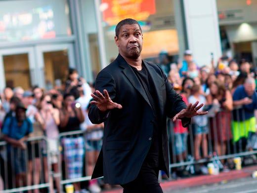 "Denzel Washington attends ""The Equalizer 2"" premiere on July 17, 2018, in Hollywood, Calif."