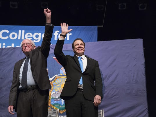 Cuomo, Sanders pitch tuition scholarship plan