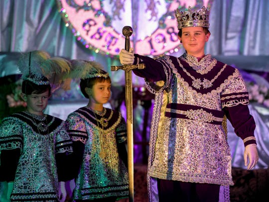 King Arthur XXXI during the Krewe of Camelot's Mardi