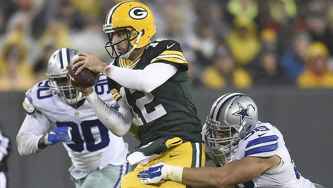 Packers QB Aaron Rodgers has 22 TD passes and zero INTs in his last eight games.