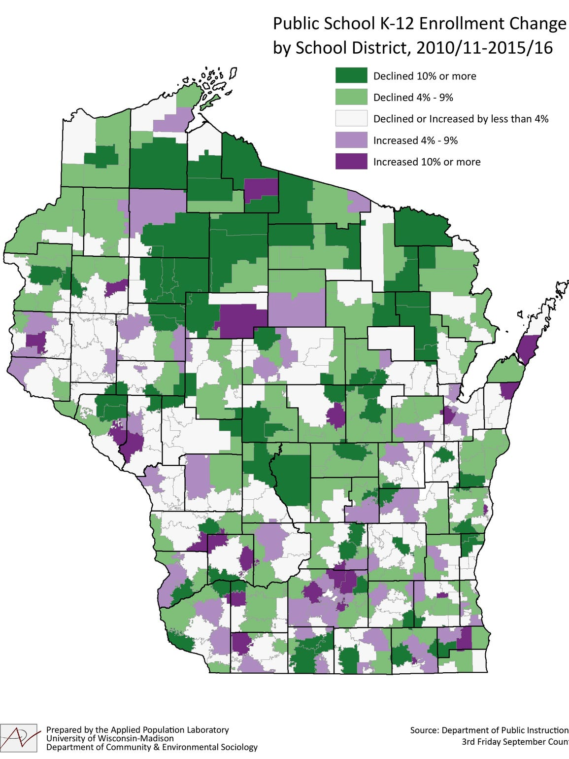 This map from the Applied Population Laboratory shows
