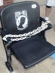 The POW-MIA Chair of Honor was recently dedicated at PeoplesBank Park in York.