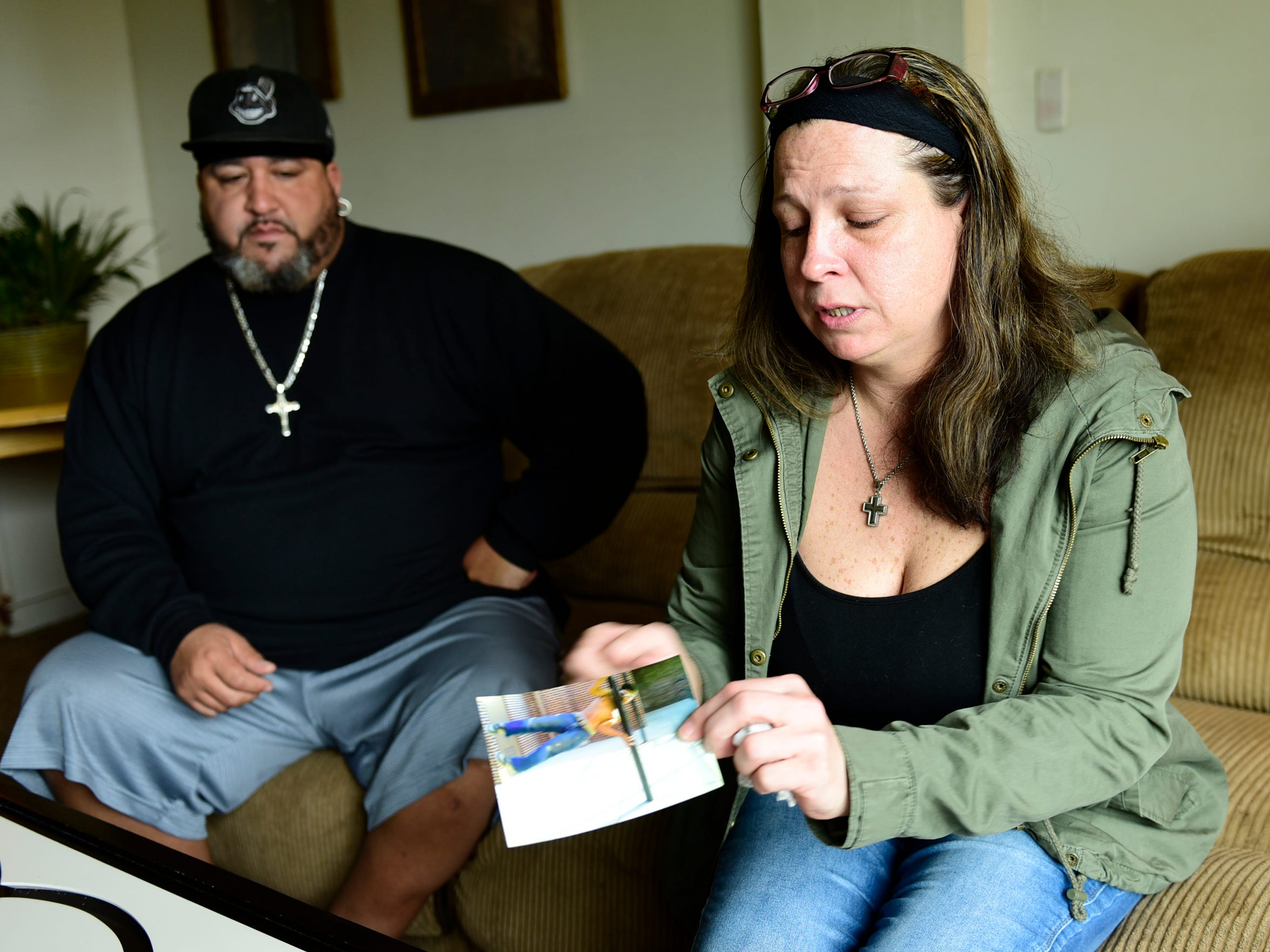 Nancy Copeland, right, and Shane Durbin remember their