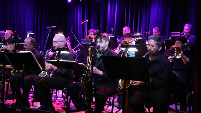 A big wall of sound will come at you when the Asheville Jazz Orchestra plays Christmas music at White Horse Black Mountain.