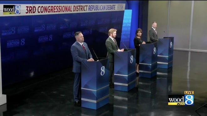 District Three Republican candidates square off during a debate on Tuesday, July 14.