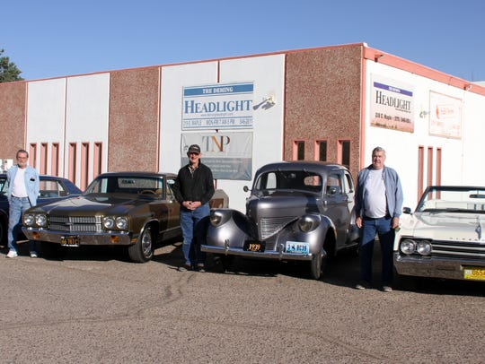 Members of the Smok'n Oldies Classic Car Club are,