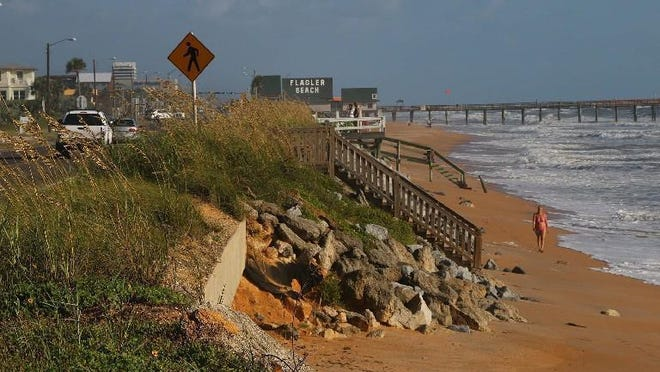 The Army Corps of Engineers project would refortify coastal berms and extend the dune to protect State Road A1A along a 2.6-mile section of beach south of the Flagler Beach Pier.