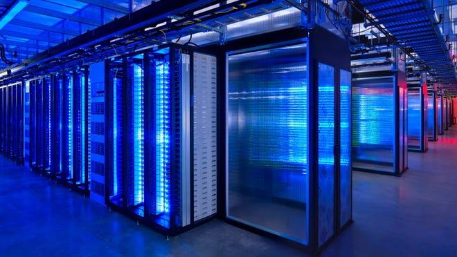 A Facebook server room