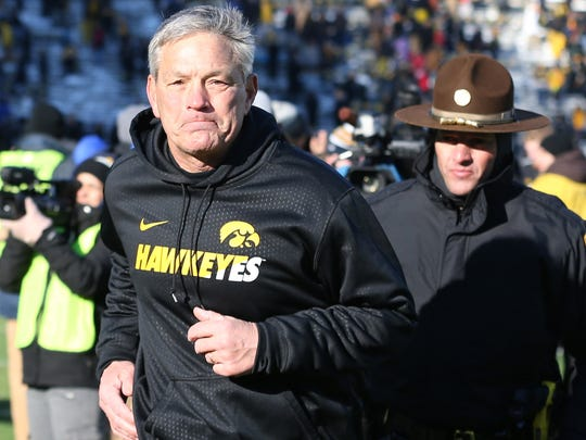 Iowa and Kirk Ferentz will be in the Playoff if they can beat Michigan State on Saturday.