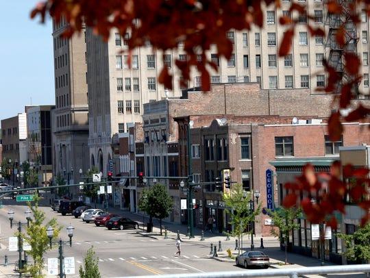 Downtown Pontiac on Saginaw Street in July 2015.