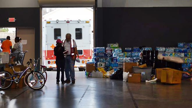 The Red Cross continues to have a presence in Holly Springs following last week's deadly storms.