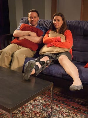 """Zack Calhoon and Rachel Burttram star in the Kitchen Theatre Company production of """"Dancing Lessons"""" by Mark St. Germain."""