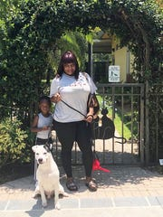 Brody's going home photo with his new mom, Tawanna