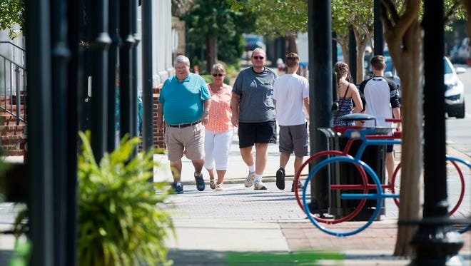 Visitors and residents may find walking the best option to getting around the Pensacola Core area.