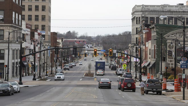Street lights were lit up and functioning as Massillon's downtown Lincoln Way streetscape project concluded in the fall of 2019. The next phase -- from First Street NE to Fourth Street NE -- is expected to start in mid-summer 2021. Funding is being sought through the Ohio Public Works Commission.