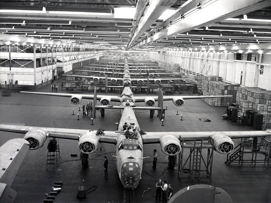 During World War II, Ford Motor Company made B-24 bombers