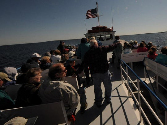 More than 100 passengers on the Island Clipper headed north out of Gills Rock to view St. Martin, Poverty, Rock, Plum and Pilot islands with their respective lighthouses during last year's Door County Lighthouse Festival.