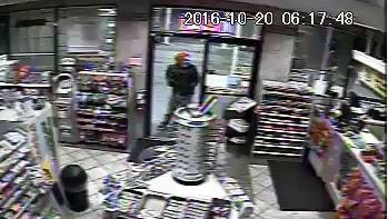 A suspect wearing a clown mask robbed a Sinclair gas station Thursday.
