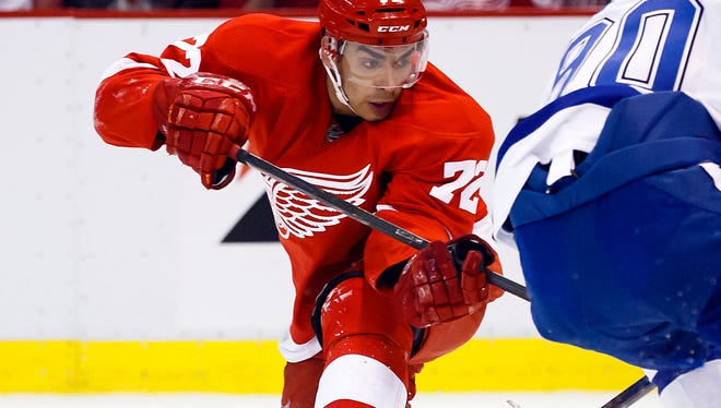 Red Wings center Andreas Athanasiou