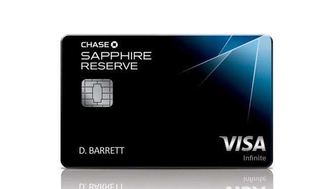 This photo provided by JPMorgan Chase shows a likeness of the bank's newest credit card, the Chase Sapphire Reserve Card. The card has become the hottest credit card on the market after being available only two weeks, to the point of running out of the metal cards used to make it.