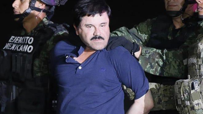 """La captura del narcotraficante Joaquín """"el Chapo"""" Guzmán y una simbólica visita del papa Francisco abrieron un 2016 intenso para México, que terminó el año sumido en el pesimismo por el resurgir de la violencia y la corrupción, la inestabilidad económica y la victoria de Donald Trump en Estados Unidos."""