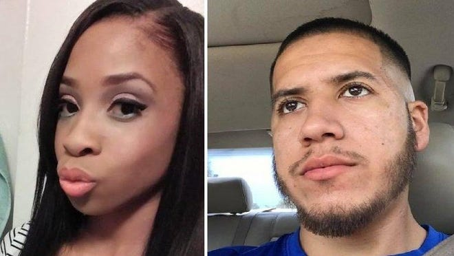 Facebook photos of Denecia Seward (left) and Andre Ramirez. Police allege Ramirez fatally shot Seward on July 26, 2020.
