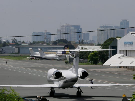 A Gulf Stream private jet chartered by Chris Brown,