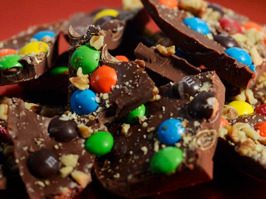 MMMM...Bark made fom melted chocolate bars and candy. DAILY RECORD/SUNDAY NEWS - KATE PENN