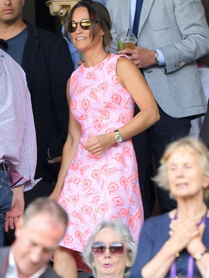 Pippa was back for a third visit to Wimbledon, on July