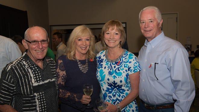 Ron Munden, left, Marilyn Munden, Beth Kirby Hahn, and Harold Hahn.